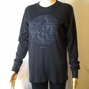 O'Neill graphic black long sleeve thermal